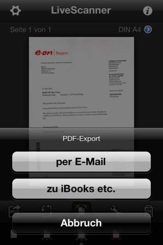 LiveScanner Screenshot