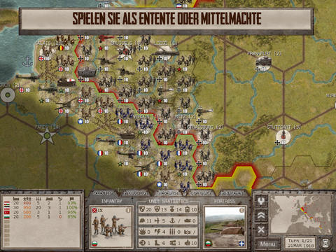 Commander the Great War iOS Screenshots