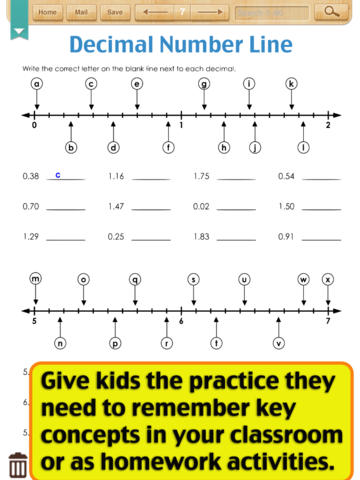 math worksheet : kids math decimal worksheets grade 4 on the app store : Ordering And Comparing Decimals Worksheet