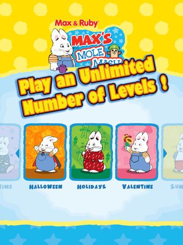 Max & Ruby: Max's Mole Mash Screenshot