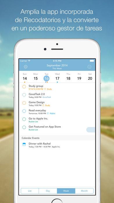 GoodTask 2 : Recordatorios/Tareas pendientes/Administrador de tareas Screenshot
