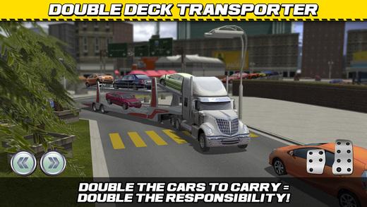 car transport truck parking simulator gratuit jeux de voiture de course pour iphone ipod. Black Bedroom Furniture Sets. Home Design Ideas