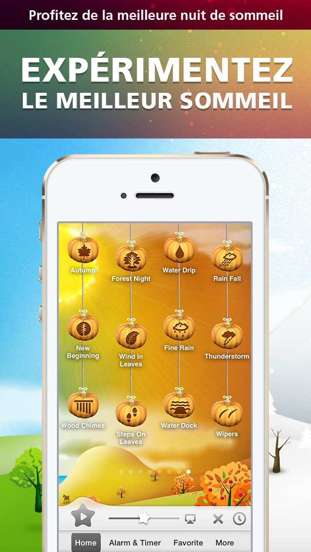 Screenshot #1 pour Relax Melodies Seasons Premium: Mix Rain, Thunderstorm, Ocean Waves and Nature Ambient Sounds for Sleep, Relaxation & Meditation