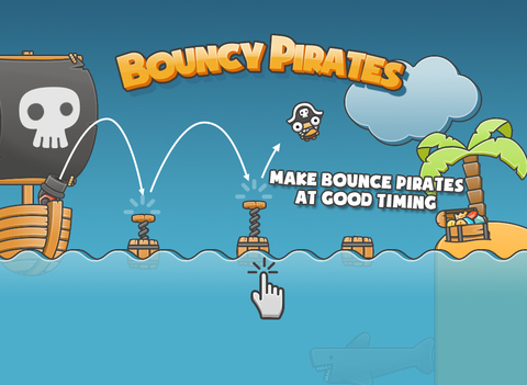 Bouncy Pirates iOS Screenshots