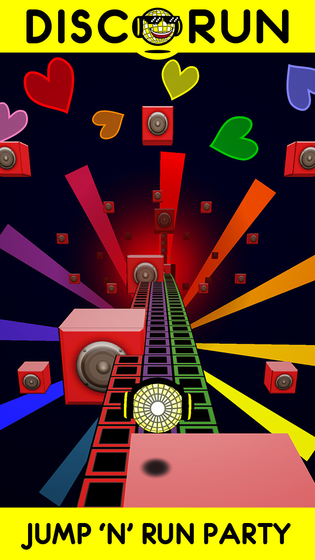 DISCORUN - Jump 'n' Run Ecstasy! iOS Screenshots