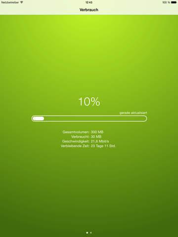 DataTrackr - Datenkontrolle im Heute-Widget für Telekom, O2, Vodafone, AldiTalk, 1und1, Mobilcom-Debitel uvm. Screenshot