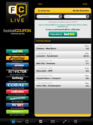 live bet scores