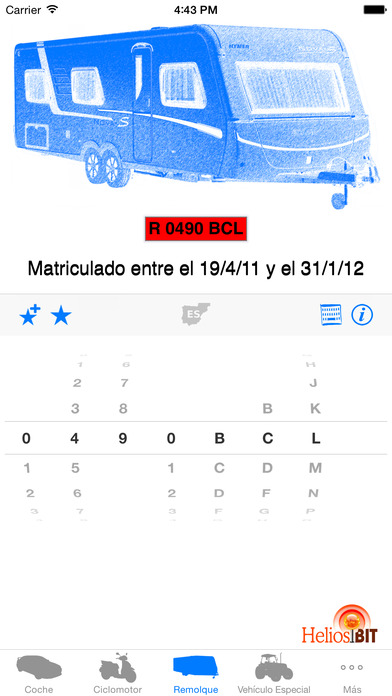 Matrículas Screenshot