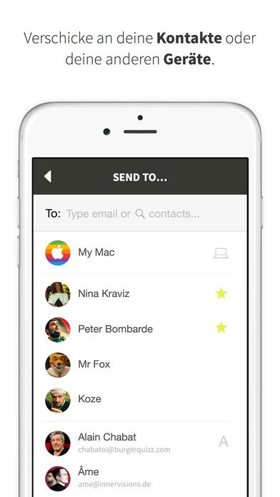 Mit Infinit unbegrenzt Fotos und Videos übertragen Screenshot