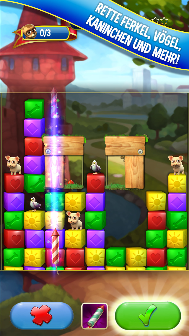 Screenshot 1 Pet Rescue Saga