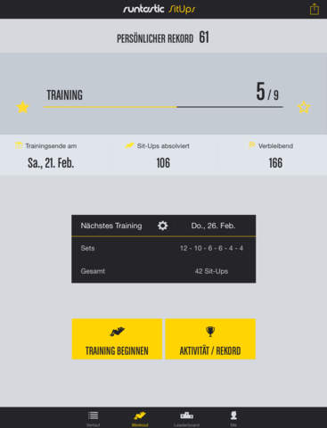 Runtastic Sit-Ups PRO Bauchmuskeln, Trainer + Workouts Screenshot