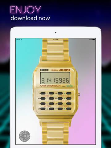 Geek Watch - Retro Calculator Watch Screenshot