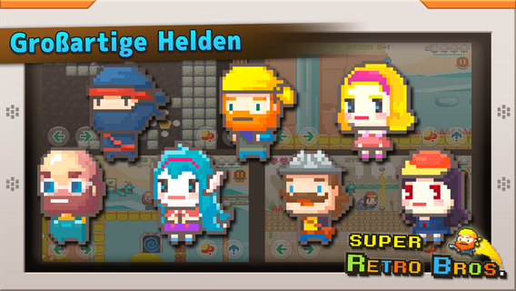 Super Retro Bros. iPhone iPad