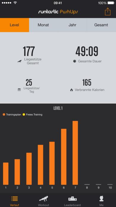 Runtastic Push-Ups PRO Liegestütze, Trainer + Workouts Screenshot