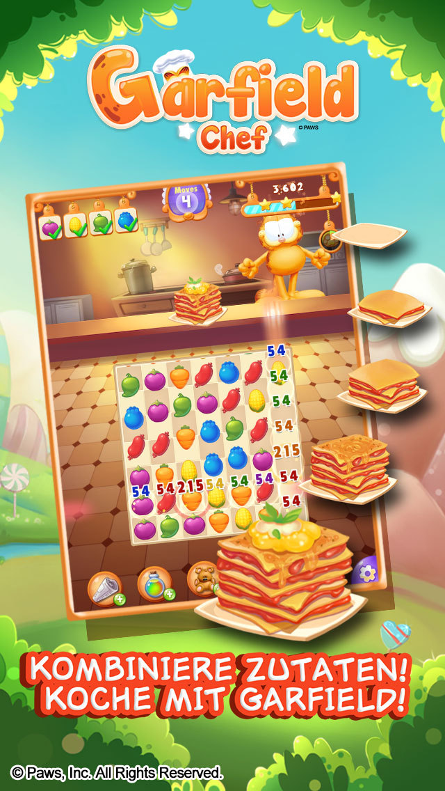 Chefkoch Garfield-Game of Food iOS Screenshots