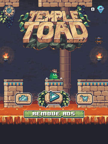 Temple Toad iOS Screenshots