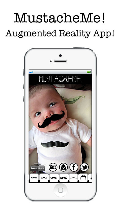 MustacheMe! Cool Moustaches on your face Screenshot