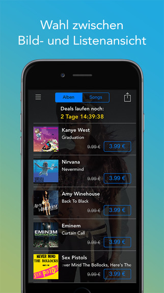 Digster Music Deals iOS