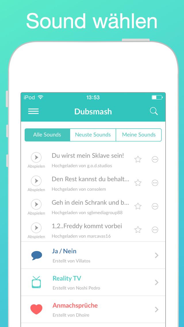 Dubsmash f 252 r ipad und iphone download