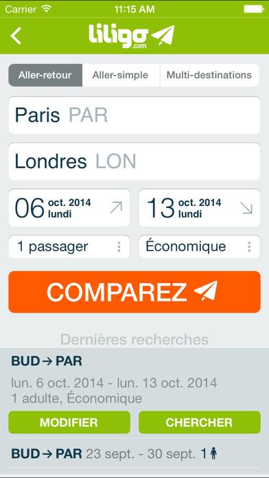 Liligo comparateur de vols voitures h tels free mac for Comparateur de comparateur hotel
