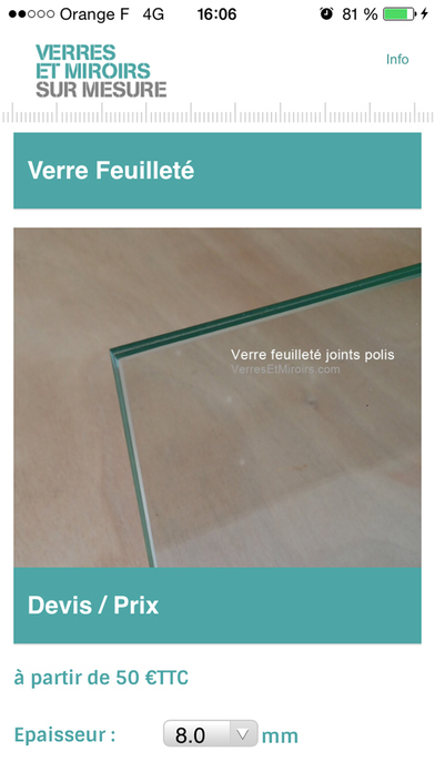 Verres miroirs dans l app store for Application miroir iphone