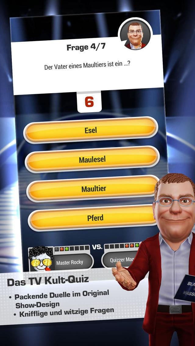 Blamieren oder Kassieren – Das Kultquiz aus TV total und Schlag den Raab iOS Screenshots