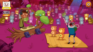 Rockstars of Ooo – Adventure Time Rhythmusspiel iOS Screenshots