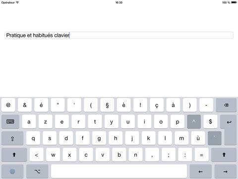 Clavier classique iPad