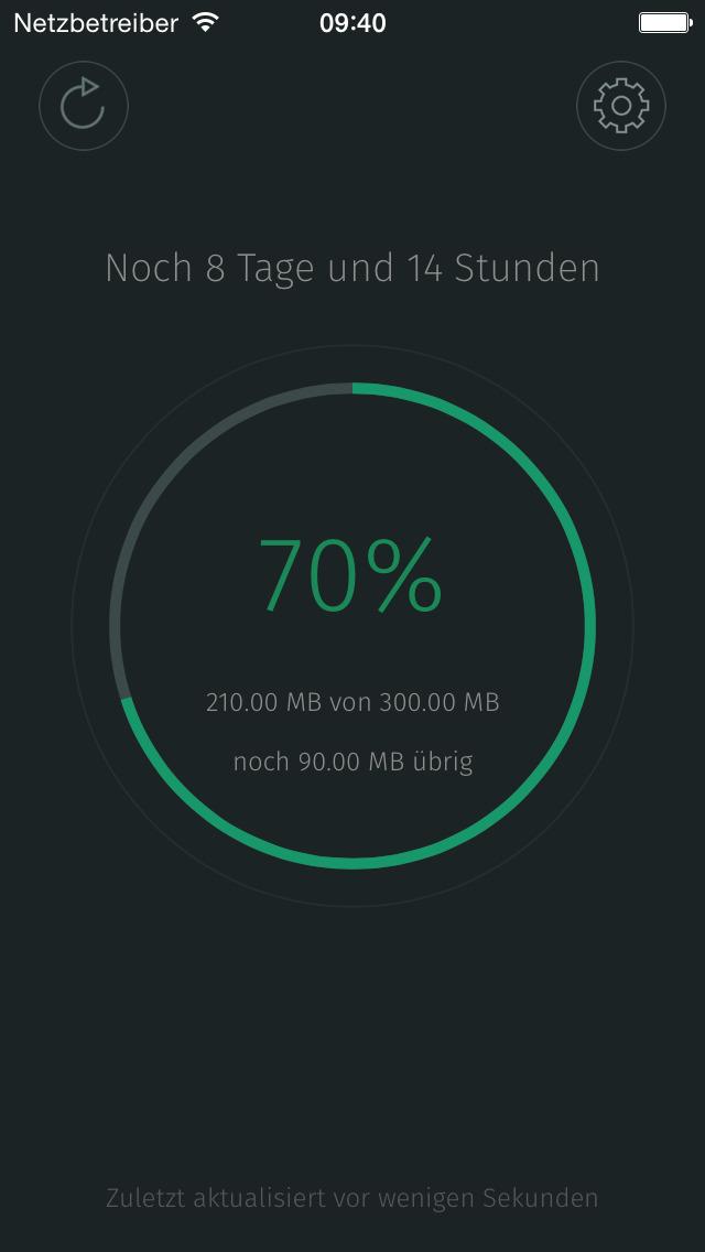 MobileData für O2, DataRocket für Telekom: Anzeige Datenverbrauch mit iOS 8 Today Widgets