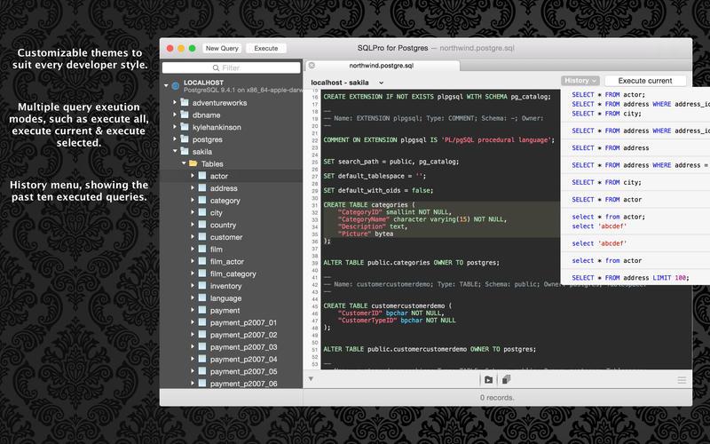 SQLPro for Postgres - PostgreSQL database manager Screenshots