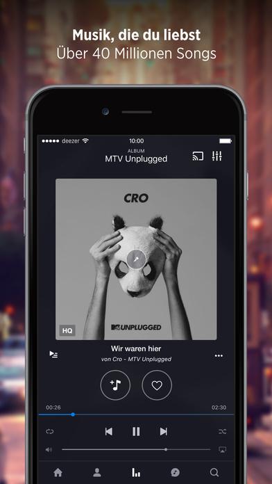 Deezer Music Screenshot