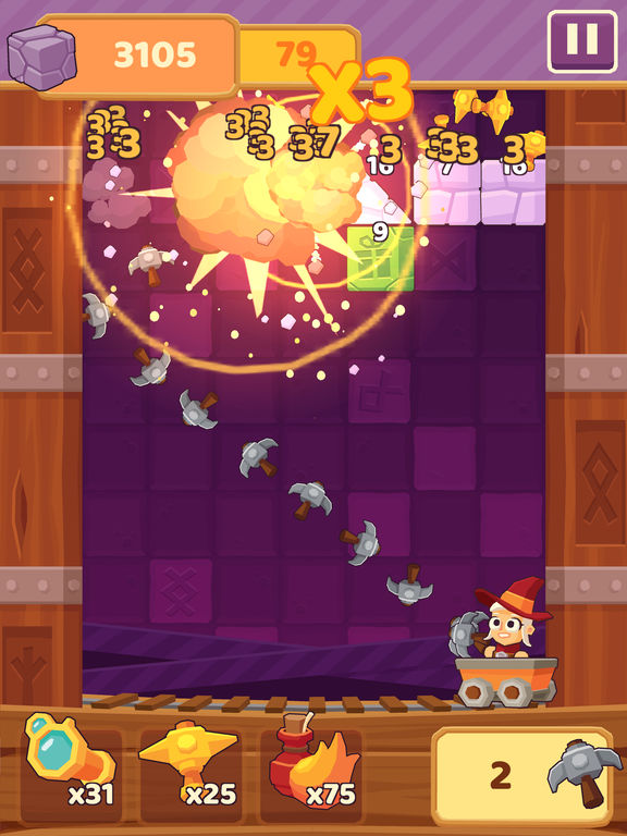 Screenshot 1 Charming Runes - Endless Arcade Block Breaker