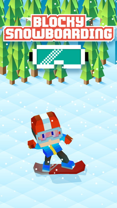 Blocky Snowboarding - Endless Runner iOS Screenshots