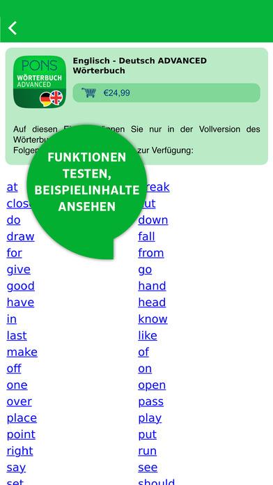 PONS Wörterbuch Bibliothek – Offline-Übersetzer Screenshot