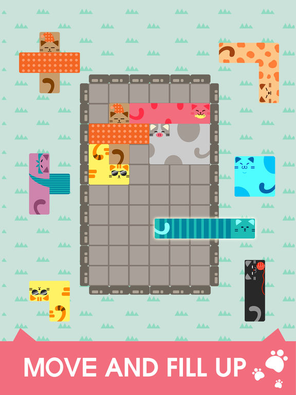 Nekodorakku Block Puzzle Screenshot