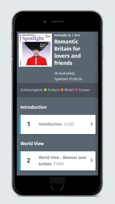 Spotlight App Funktionen