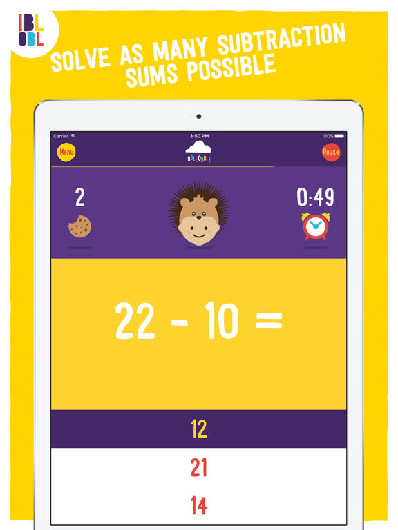 Subtraction with Ibbleobble Screenshots