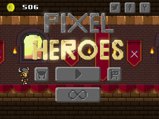 Screenshot 1 Pixel Heroes - Endless Arcade Runner