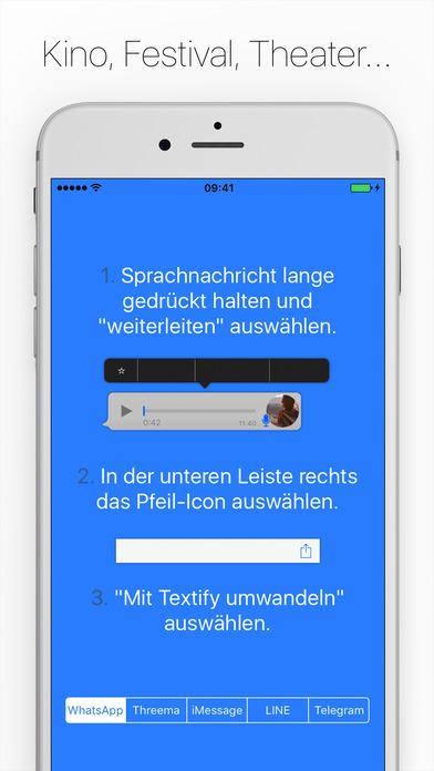 Textify - Wandle Sprachnachrichten in Text um Screenshot