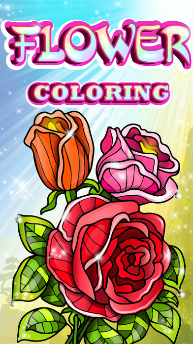 Coloring Pages Of Flowers Games : Flowers colouring pages red rose mandala fun games on the app store