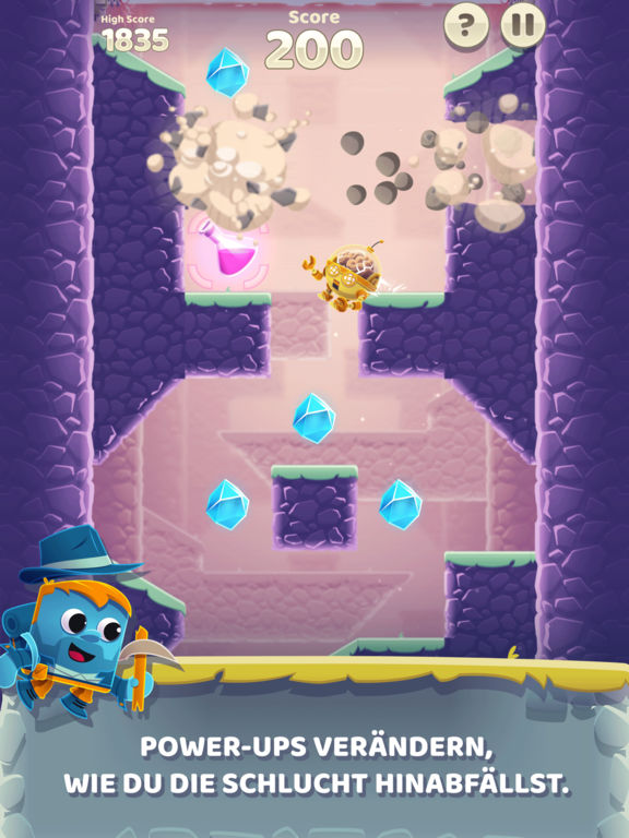 Screenshot 3 Canyon Crash - Freier Fall