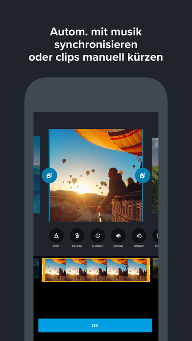 Quik - GoPro Video Editor für Fotos mit Musik Screenshot