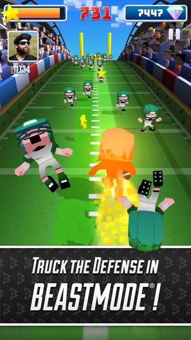 Screenshot 4 Marshawn Lynch Blocky Football