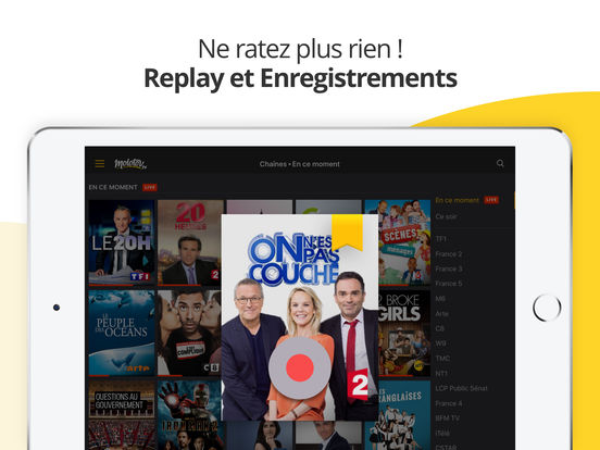 Molotov : TV en Direct, Replay, Programme TV… iPad