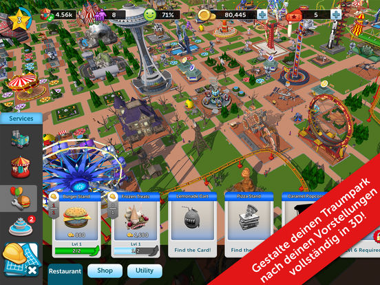 Screenshot 3 RollerCoaster Tycoon® Touch™