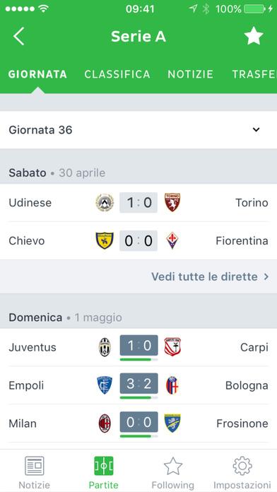 Onefootball - Notizie Calcio dalla Serie A Screenshot