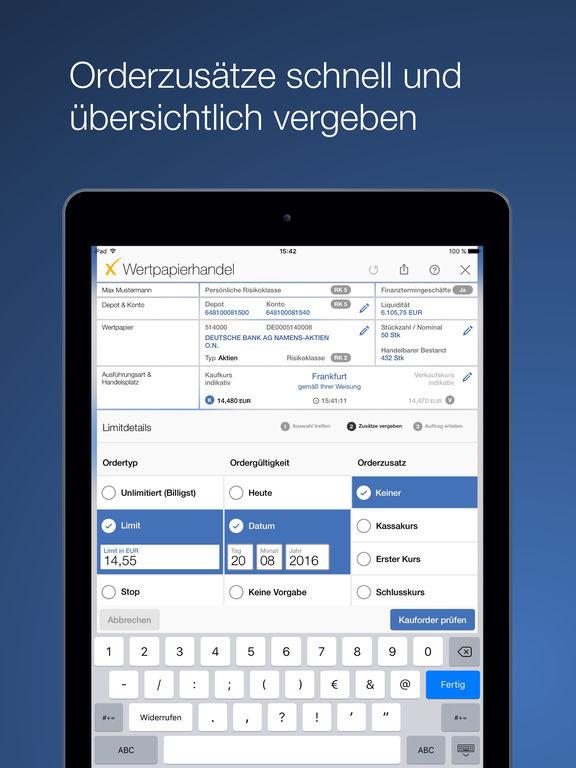 Deutsche Bank maxblue Screenshot