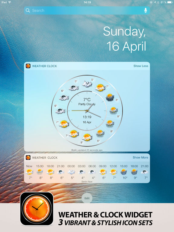 Weather Сlock Widget Screenshot