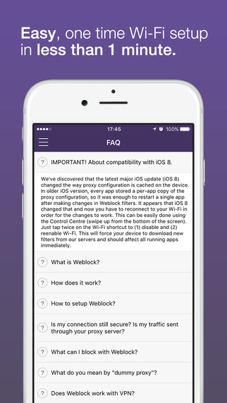 Weblock - AdBlock für Apps und Web Screenshot