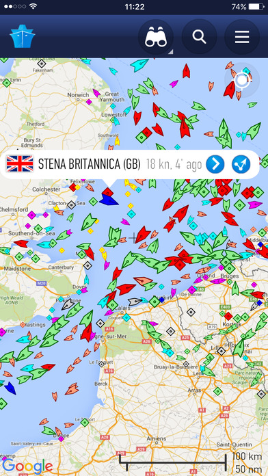 Marine Traffic Screenshot